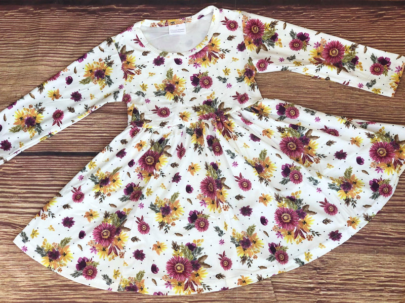 DELANEY FALL FLORAL TWIRL DRESS