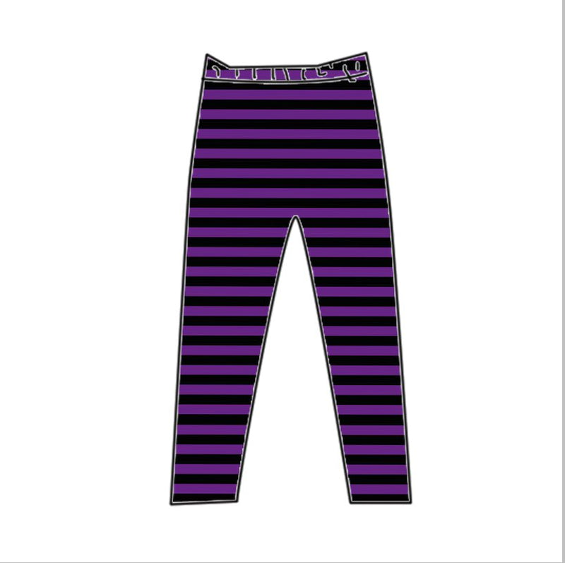 PURPLE/BLACK MILK SILK LEGGINGS - PREORDER