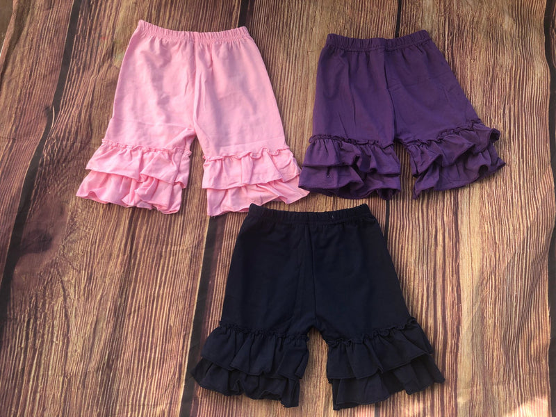 RUFFLE SHORTS - 3 COLORS