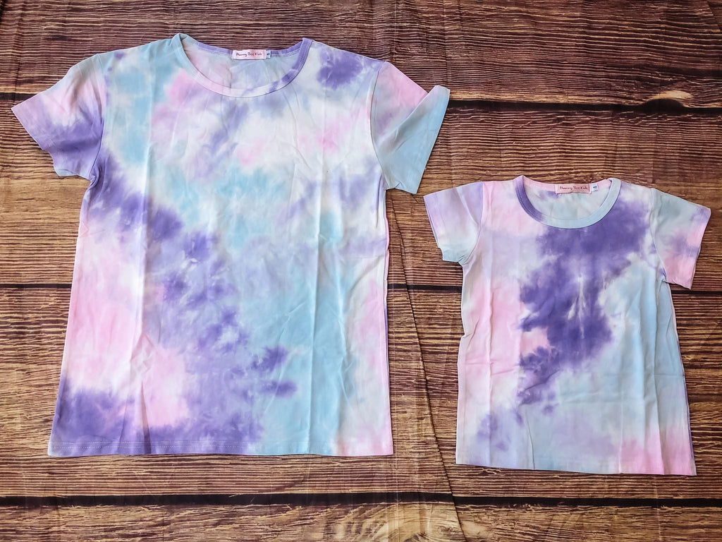 MOMMY AND ME PASTEL TIE DYE TSHIRT