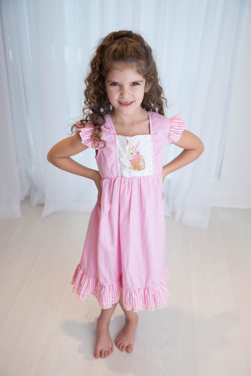 MIKAYLA PINK BUNNY DRESS