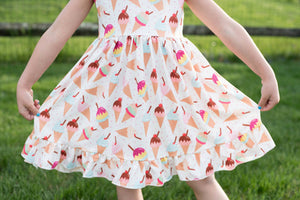 SUMMER ICE CREAM TANK DRESS