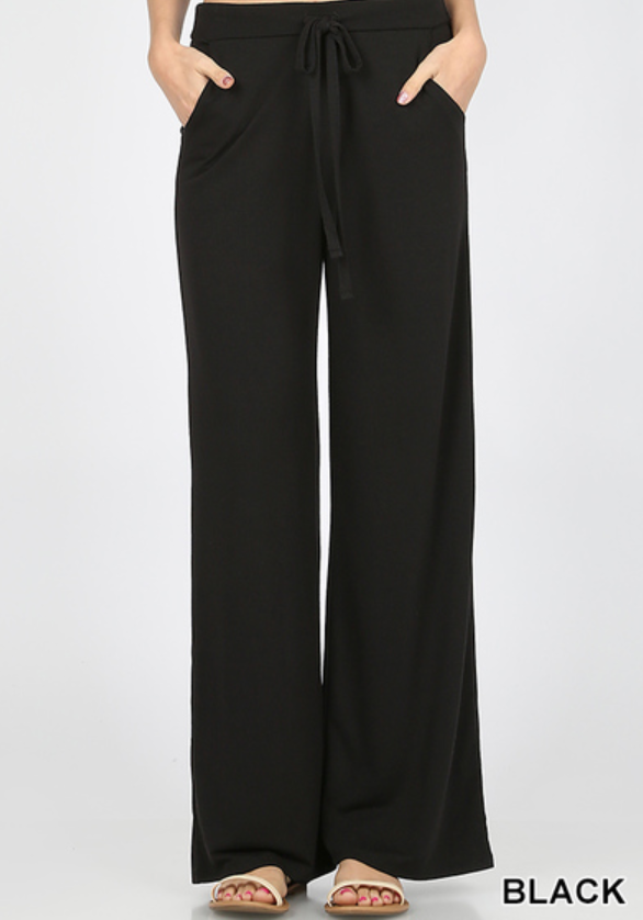 LOUNGE PANTS LOOSE FIT - BLACK - PRESALE