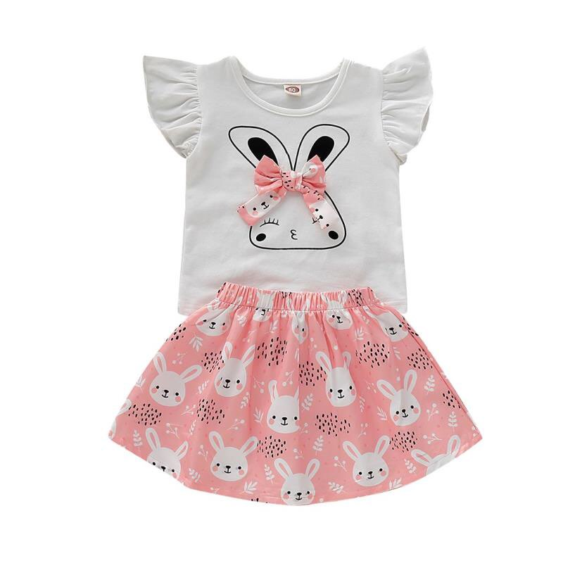 NANCY BUNNY TOP AND SKIRT SET