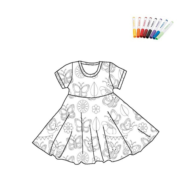 COLOR YOUR DRESS - BUTTERFLY- 2ND  PREORDER