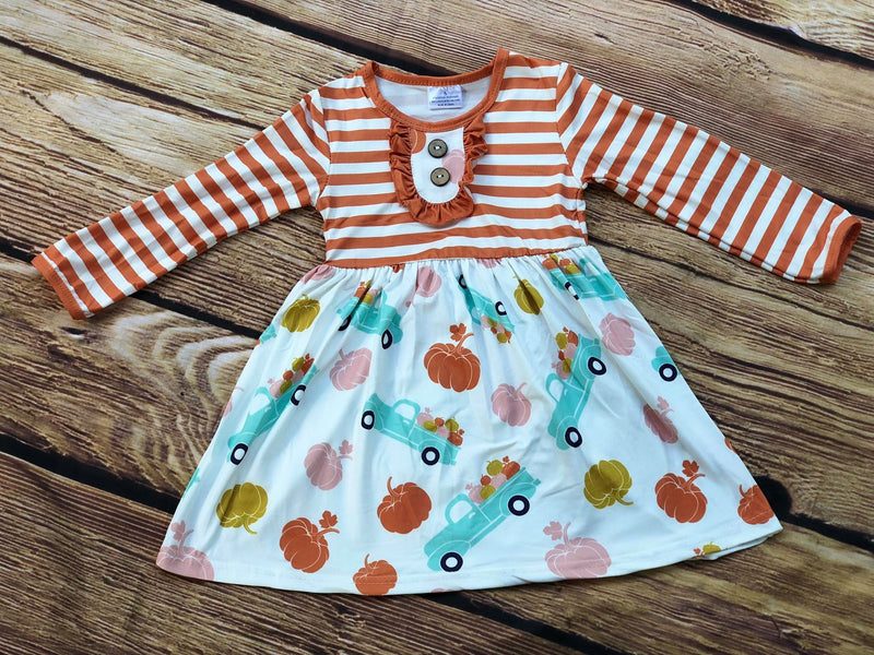 PUMPKIN TRUCK MILK SILK DRESS