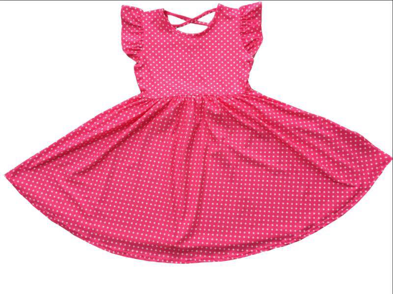 PINK POLKA TWIRL DRESS