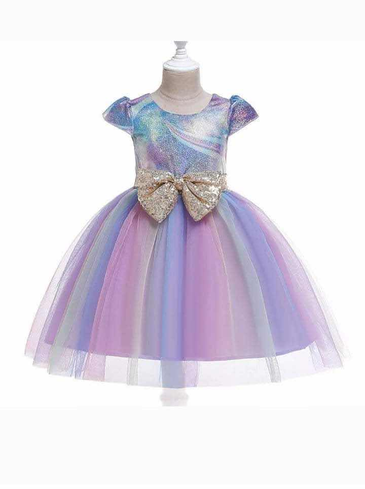RAINBOW SPARKLE DRESS - PURPLE - PRESALE