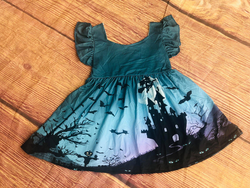 HAUNTED HOUSE MILK SILK DRESS