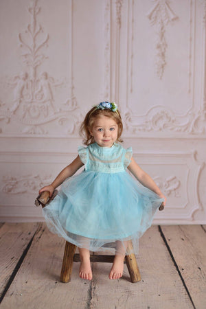 OLIVIA TULLE DRESS - TURQUOISE