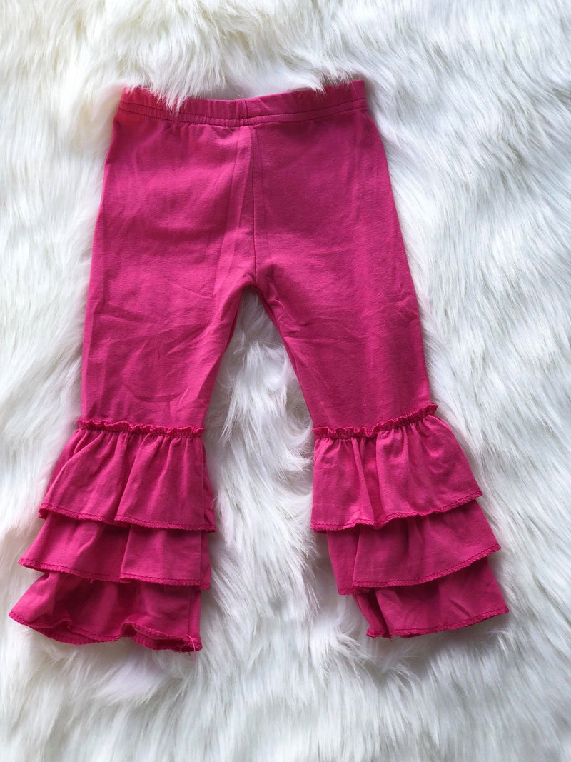 RUFFLE PANTS - HOT PINK