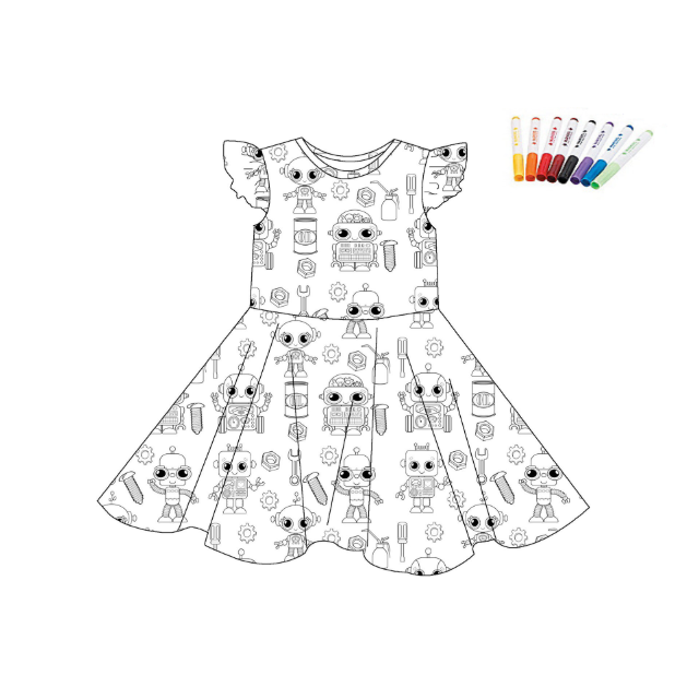 COLOR YOUR DRESS - ROBOTS - 2ND PREORDER