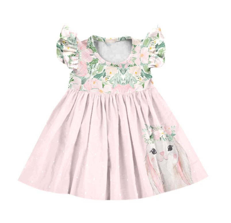 FLORAL BUNNY MILK SILK DRESS PRE order