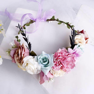 FLORAL CROWN - 3 COLORS