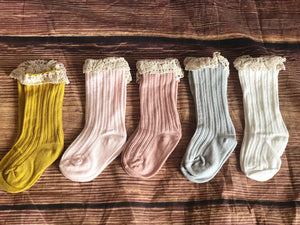 RUFFLE SOCKS - 5 COLORS