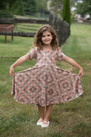 JEN PLAID TWIRLY DRESS
