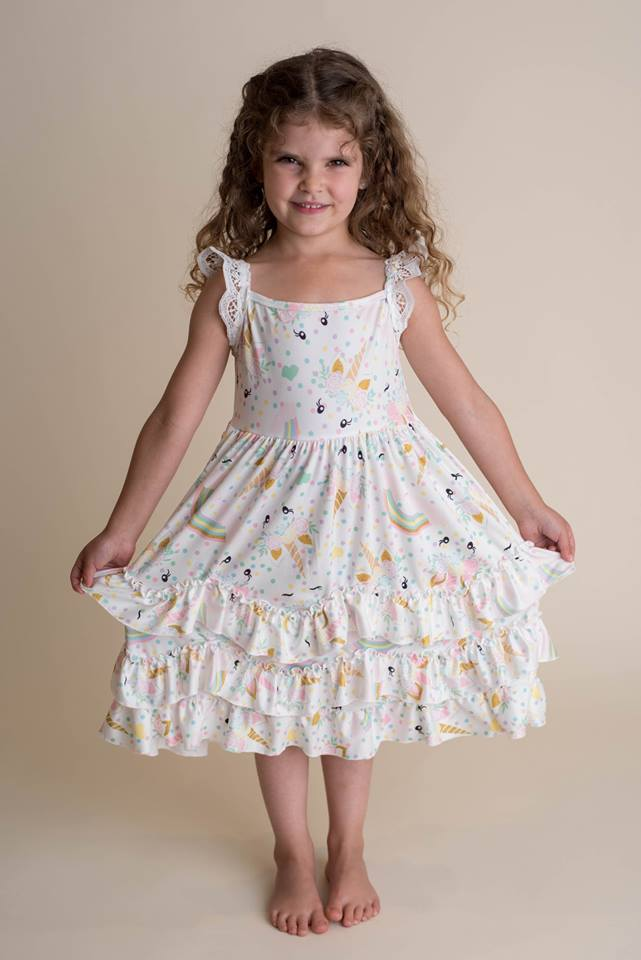 UNICORN RUFFLE DRESS