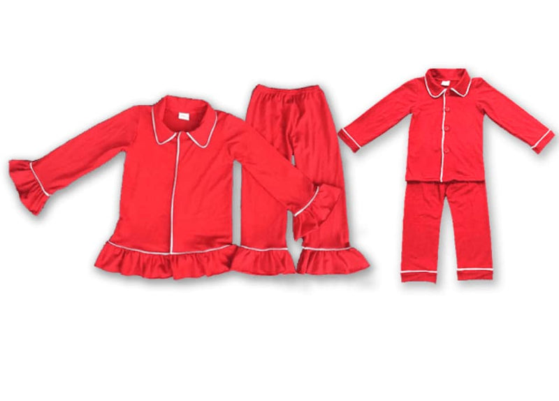 RED MILK SILK CHRISTMAS PJS - PREORDER