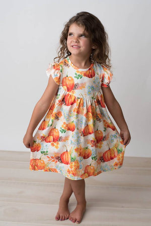 PUMPKIN PEARL DRESS