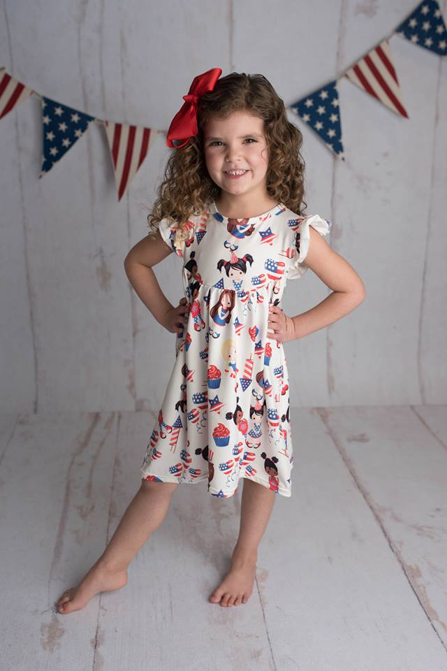 PATRIOTIC DOLLS PEARL DRESS