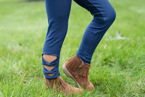 BOW LEGGINGS - DENIM