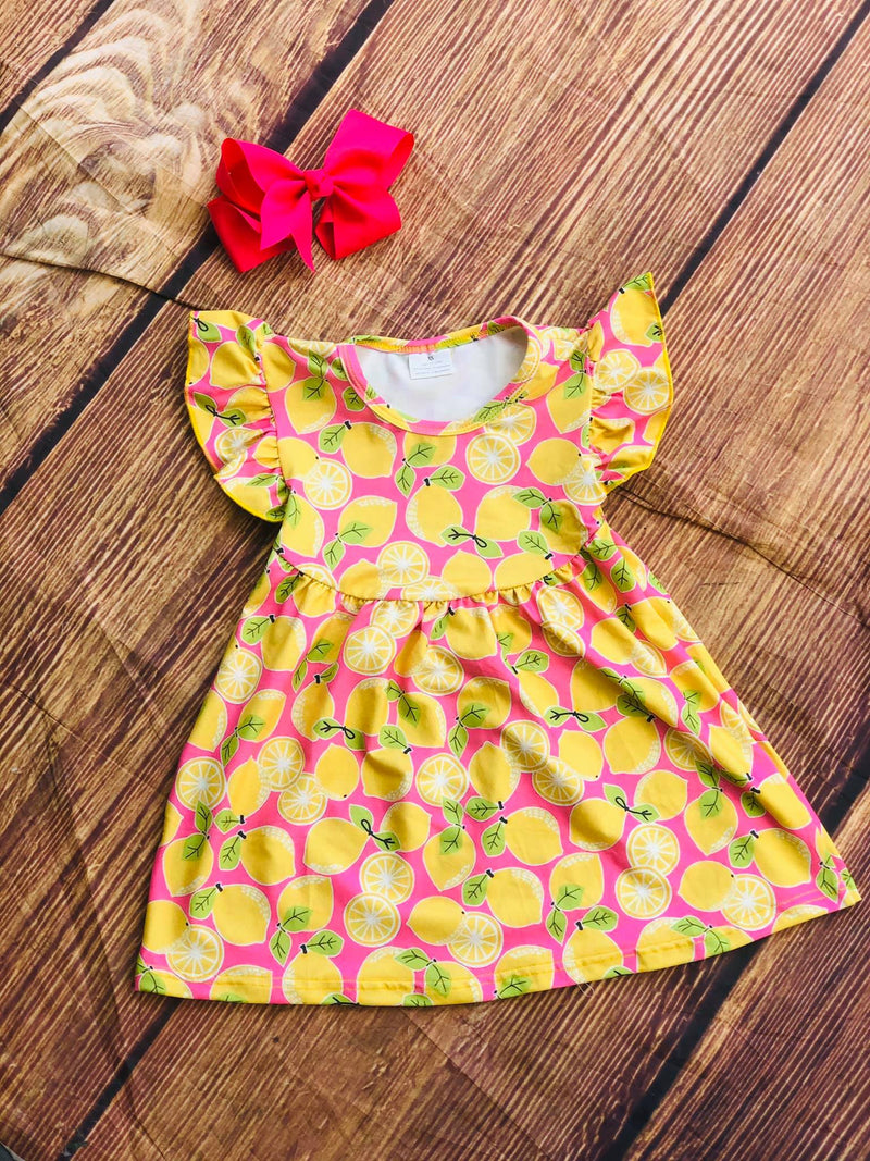 LEMONS MILK SILK DRESS
