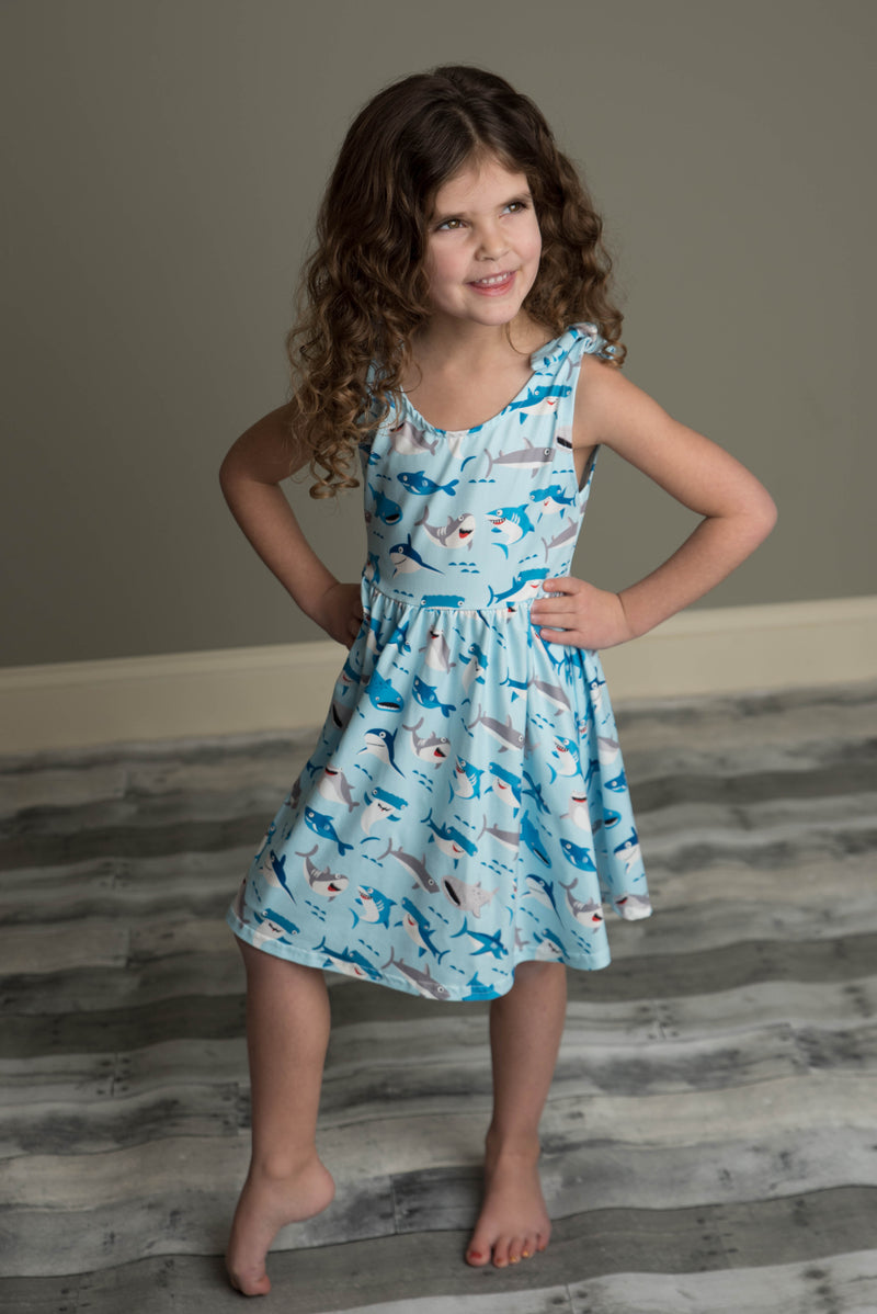 SHARK TANK BOW DRESS