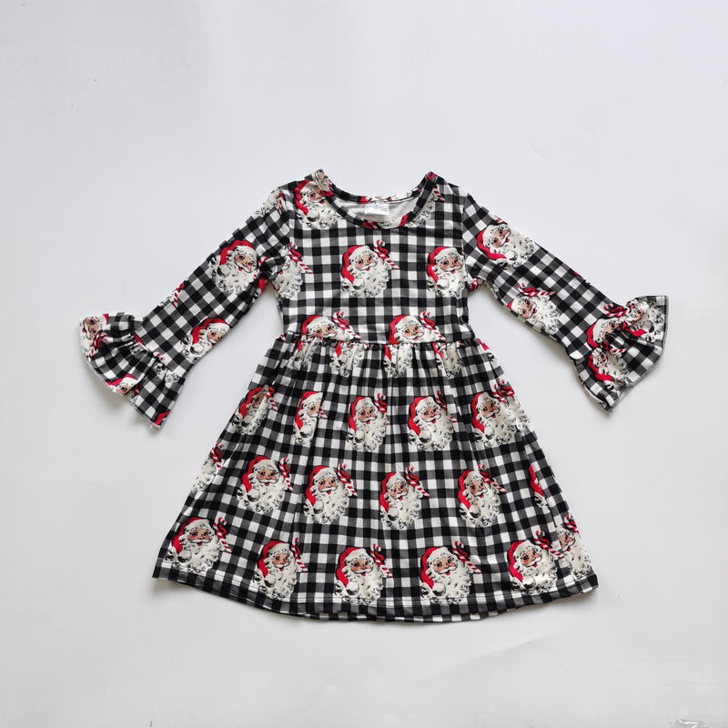 SANTA CLAUS PLAID DRESS