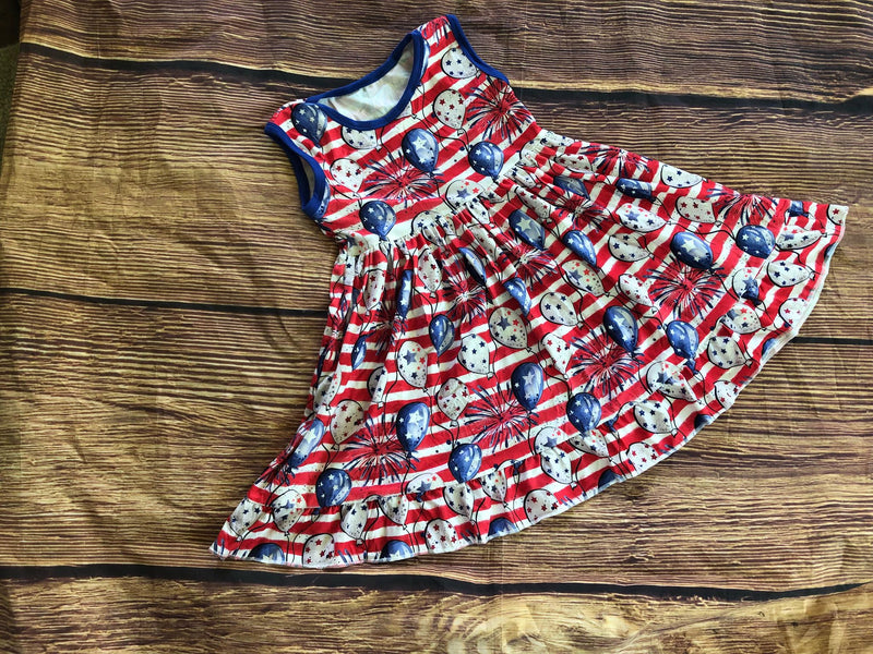 INDEPENDENCE DAY BALLOONS TANK DRESS