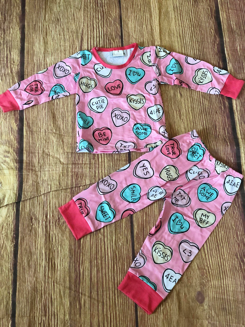 VALENTINE CANDY HEART PJS