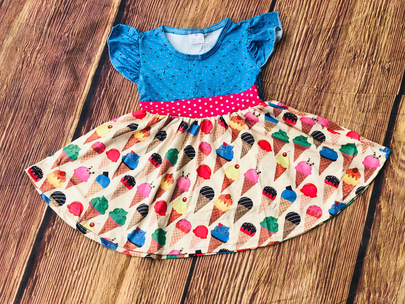 ICE CREAM & SPRINKLES TWIRL DRESS