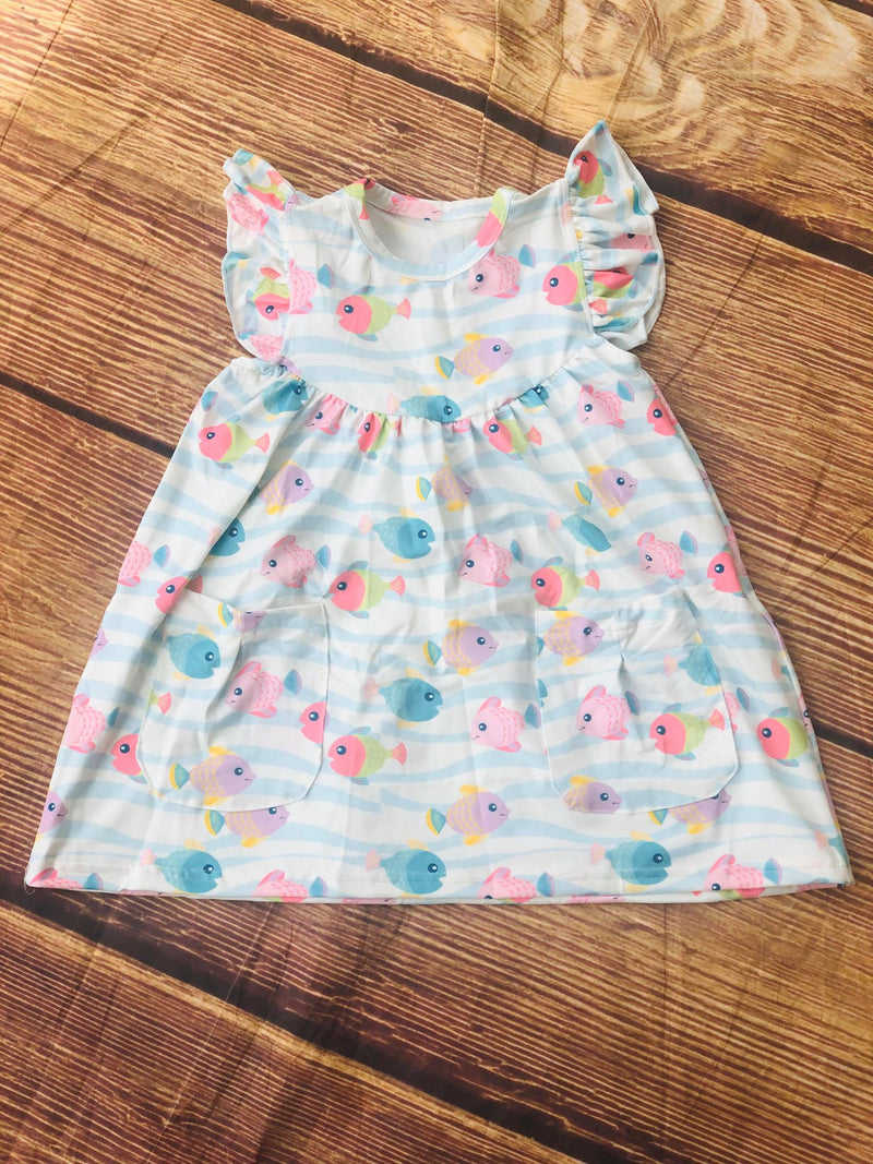 FISHES PEARL DRESS WITH POCKETS