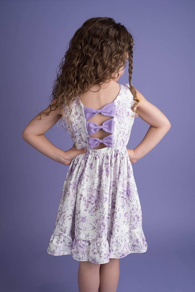 ADELAIDE PURPLE FLORAL DRESS