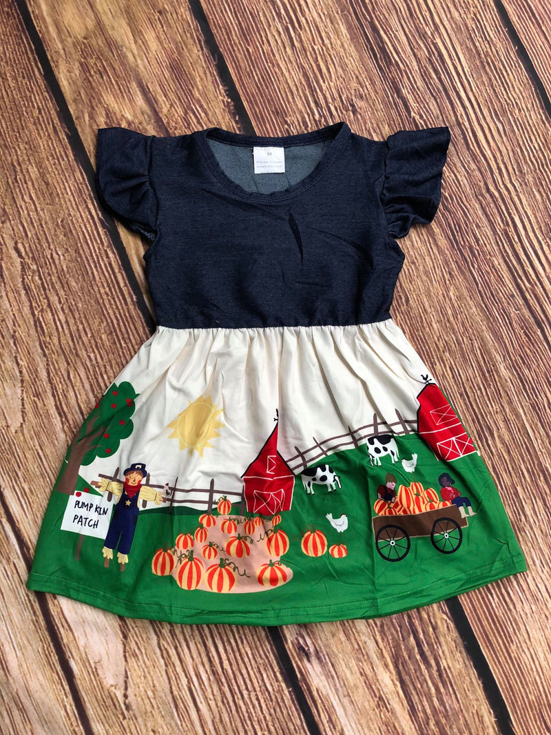 PUMPKIN PATCH DENIM DRESS