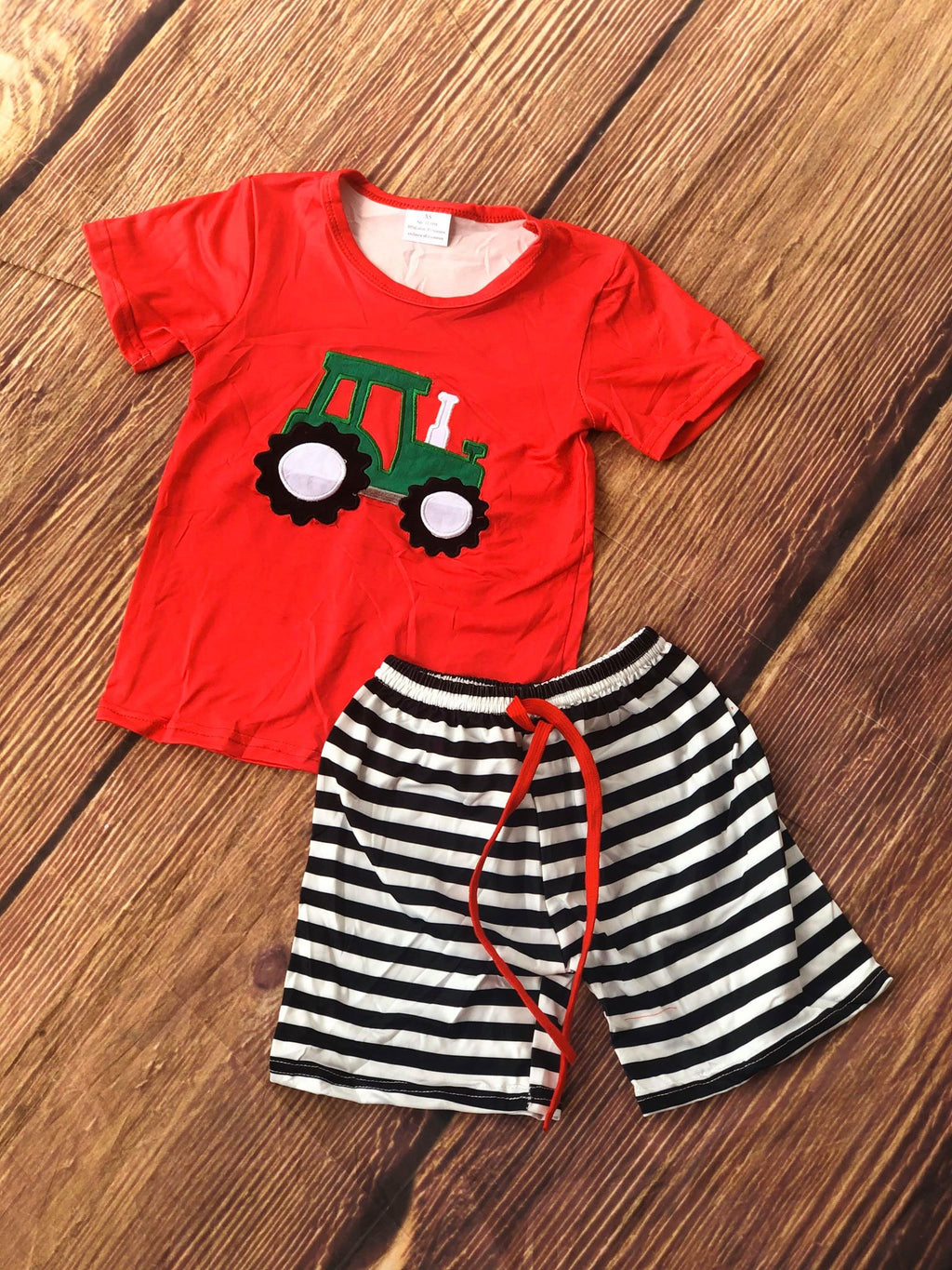BOYS TRACTOR SHORT SET