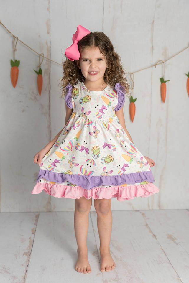 EASTER BUNNY FLUTTER DRESS