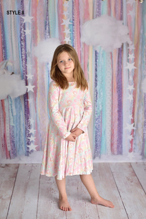 UNICORN PASTEL TWIRLY DRESS