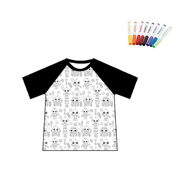 COLOR YOUR RAGLAN - ROBOTS- 2ND PREORDER