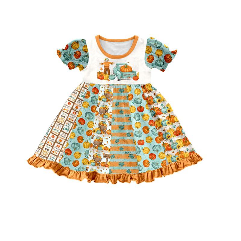 PUMPKIN PATCH TWIRL DRESS - PREORDER