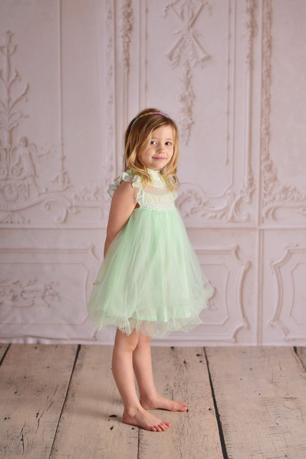 OLIVIA TULLE DRESS - MINT