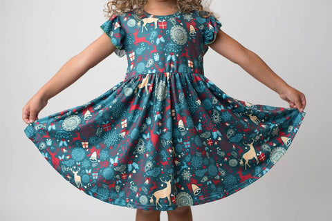 CHRISTMAS TWIRLY DRESS - PREORDER