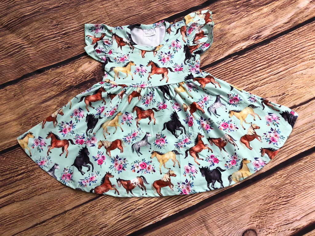 HORSES TWIRL DRESS