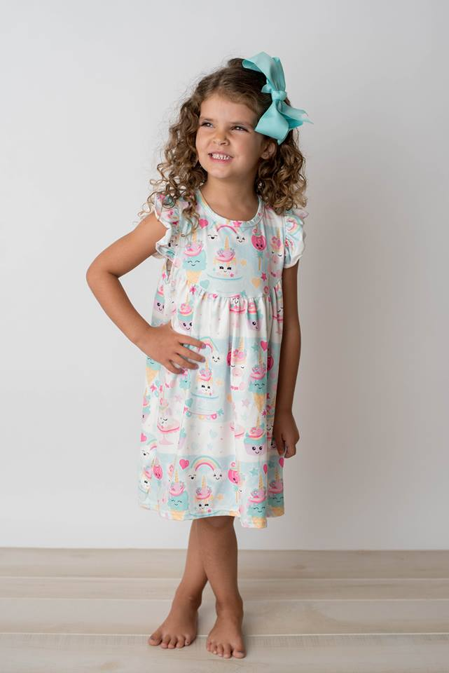 UNICORN BIRTHDAY TREATS PEARL DRESS