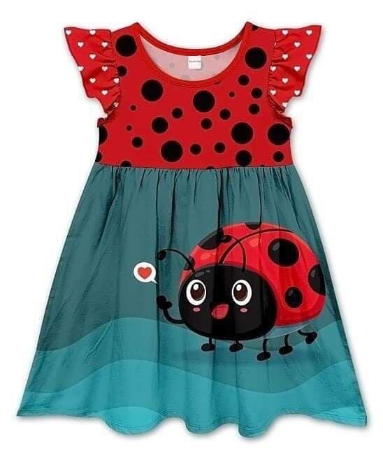 LADY BUG MILK SILK DRESS