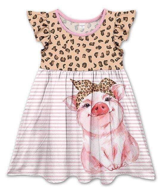 PIGGY  MILK SILK DRESS