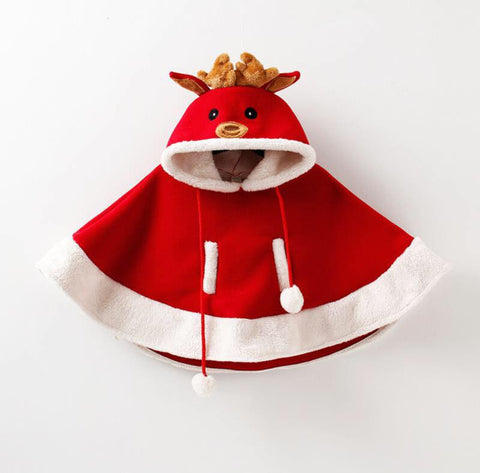 REINDEER PONCHO - RED
