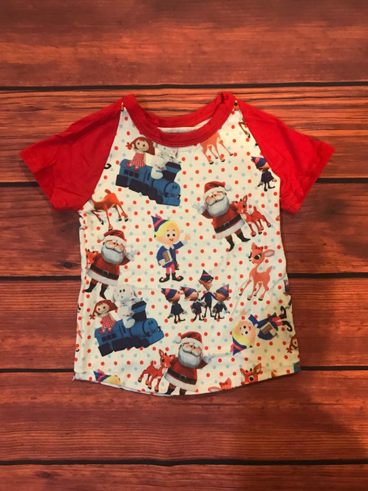 SANTA'S HELPER RAGLAN