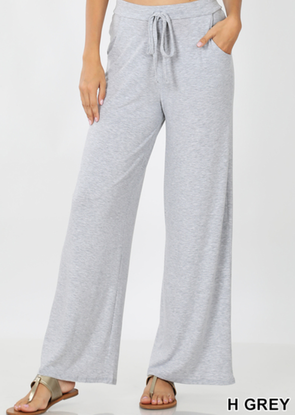 LOUNGE PANTS LOOSE FIT - HEATHER GREY