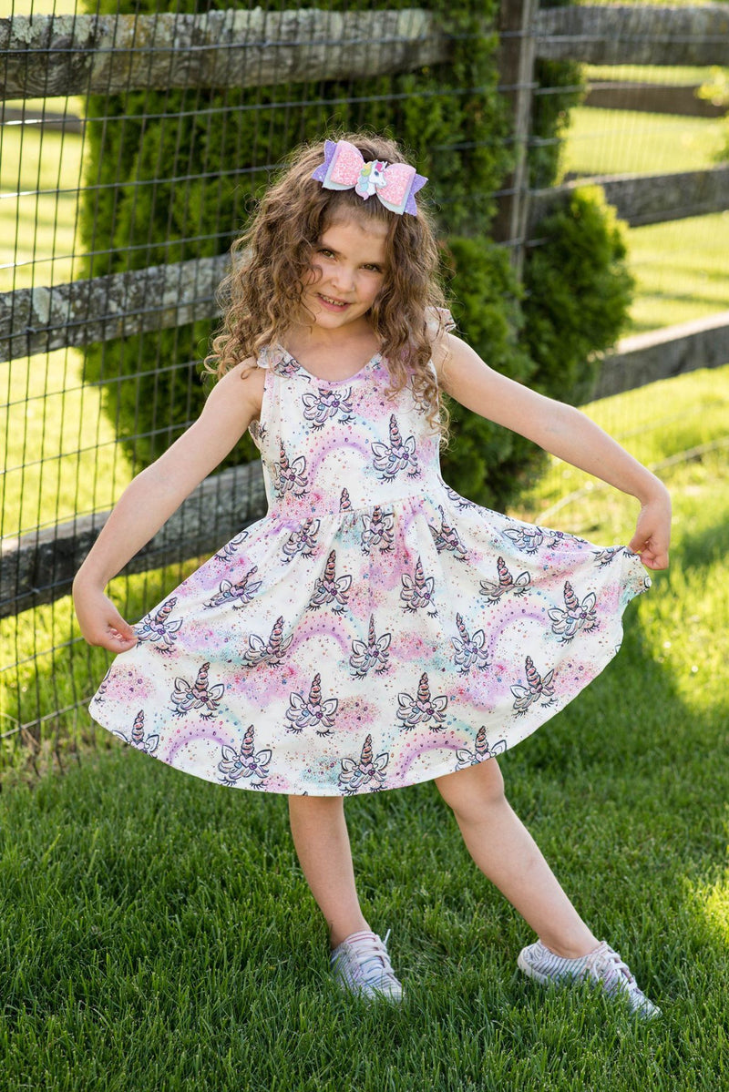 UNICORN TANK BOW DRESS