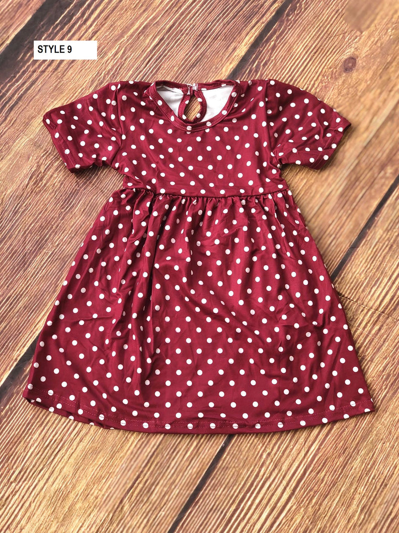 POLKA DOT MILK SILK DRESS - WINE